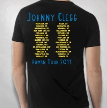Johnny Clegg - 2011 Men's Black Totem Guy Tour Tee