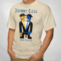 Johnny Clegg - Men's Sand Siamese Twins 2011 Tour Tee
