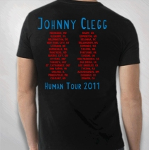 Johnny Clegg - 2011 Men's Black Wolfhand Tour Tee