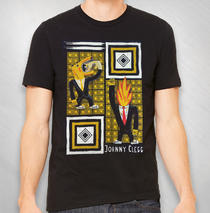 Johnny Clegg - Men's Black Flame Head Tee