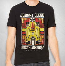 Johnny Clegg - 2014 Men's Black Totem Guy Tour Tee