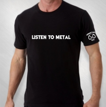 Jason Newsted - Men's Listen To Metal Tee