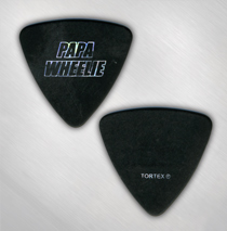 Papa Wheelie - Logo Bass Pick