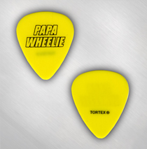Papa Wheelie - Yellow Guitar Pick