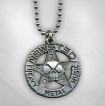 Jason Newsted - Star Logo Pewter Necklace