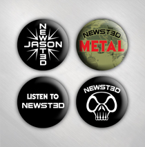 Jason Newsted - 4 Button Set