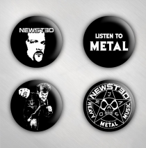 Jason Newsted - 4 Button Set - Set 2