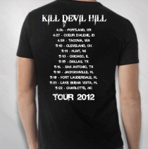 Kill Devil Hill - Album Cover 2012 Tour Tee