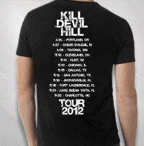 Kill Devil Hill - Skull 2012 Tour Tee