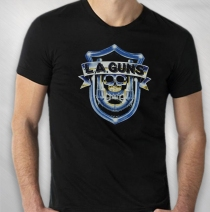 L.A. Guns - Blue Shield Tee