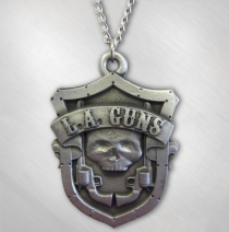 L.A. Guns - Shield Pewter Necklace
