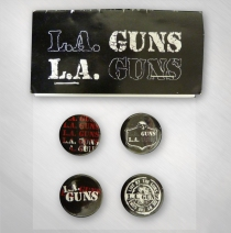 L.A. Guns - 4 Button Set