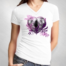 Lisa Marie Presley - Women's Photo Heart White V-Neck