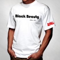 Love - Black Beauty White Tee