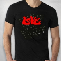 Love - Lyrics Black Tee