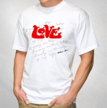 Love - Lyrics White Tee