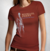 Michael Johns - Women's Photo Tee - Vintage Rust Red