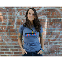 Noise Pop 2010 Ladies Blue Tee