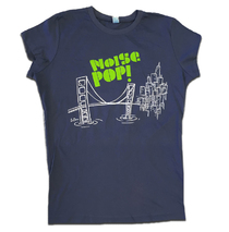 Noise Pop 2007 Ladies Le Doux CitY Tee Green on Indigo