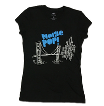 Noise Pop 2007 Ladies Le Doux City Tee Blue on Black