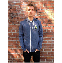 Noise Pop 2013 Heather Blue Zip Hoodie