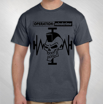 Operation: Mindcrime - Grey Mohawk Skull 2016 Tour Tee