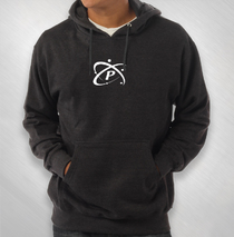 Particle - Charcoal Heather Logo Hoodie