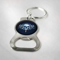 Queensryche - Tribal Skull Logo Bottle Opener Keychain