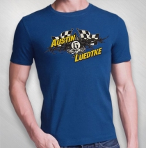 QKA Racing - Austin Luedtke Flag Shirt Royal Blue