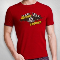 QKA Racing - Austin Luedtke Flag Shirt Red Tee