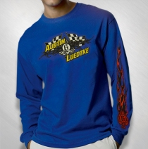QKA Racing - Austin Luedtke Flag Royal Blue Longsleeve Shirt