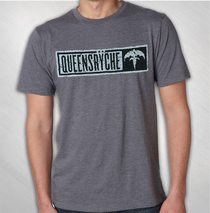 Queensryche - Men's Stamped Logo Blended Tee
