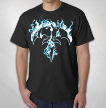 Queensryche - Men's Flaming Tri-ryche Tee
