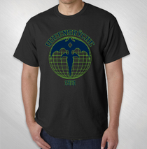 Queensryche -  Men's Black Globe Logo Tee