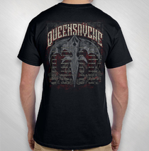 Queensryche - 2018 Men's Praying Skeletons Tour Tee