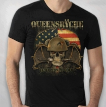 Queensryche - 2009 Men's Skull Knife Tour Tee