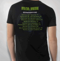 Queensryche - Men's Spider Art Of Live Green Tour Tee