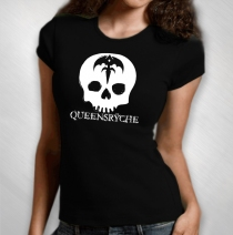 Queensryche - Women's White Skull Babydoll
