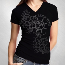 Queensryche - Women's Snowflake Black V-Neck