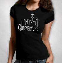 Queensryche - Women's Triryche Skyline Tee