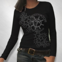 Queensryche - Women's Snowflake Black Long Sleeve