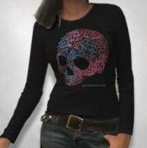 Queensryche - Women's Tri-Skull Thermal