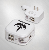 Queensryche - Triryche Logo Auto & AC Adapter