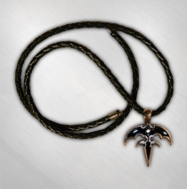 Queensryche - Black Filled Pewter Triryche Necklace