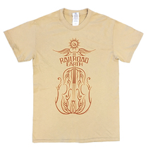 Railroad Earth - Men's One Sided Tan Fiddle Tee