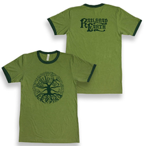Railroad Earth - Men's Green Tree Logo Ringer Tee