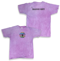 Railroad Earth - Men's Purple Rainbow Foil Tree Dyed Tee