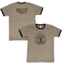 Railroad Earth - Men's Grey Tree Logo Ringer Tee