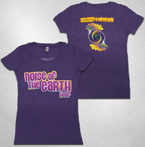 Railroad Earth - Women's Purple Noise of The Earth Tour Tee
