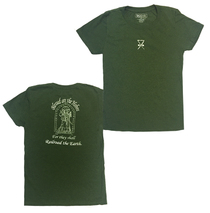 Railroad Earth - Women's Green Blessed are the Hobos Tee